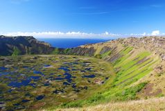 Rano Kau Easter Island Royalty Free Stock Photo