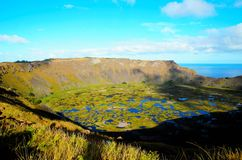 Rano Kau stock photo
