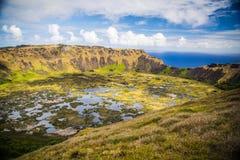 Rano Kau volcano Stock Image