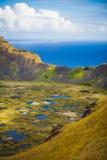 Rano Kau volcano Royalty Free Stock Photo