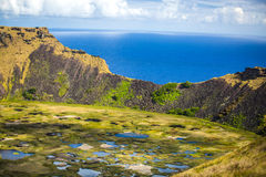 Rano Kau volcano Royalty Free Stock Photo