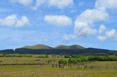 Rano Raraku火山, Rapa Nui复活节岛 免版税库存图片