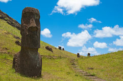 Rano Raraku Royalty Free Stock Photography
