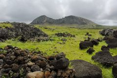 Rano Raraku Royalty Free Stock Images