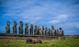 Rano Raraku- Easter Island Royalty Free Stock Photography