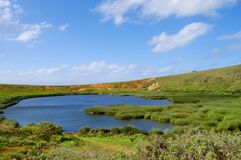 Rano Raraku Lake. Easter Island Stock Image