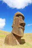 Rano Raraku moai. Moai at Rano Raraku quarry - Easter Island (Rapa Nui Stock Photos