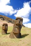 Rano Raraku moai Stock Photography