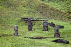 Rano Raraku Moais. Easter Island Stock Image