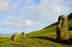 Rano Raraku Moais. Easter Island Stock Photos