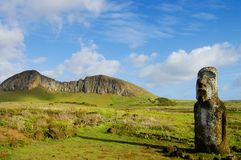 Rano Raraku Mountain. Easter Island Royalty Free Stock Images