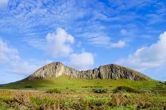 Rano Raraku Mountain. Easter Island Royalty Free Stock Photos