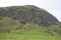 Rano Raraku Mountain. Easter Island Royalty Free Stock Image