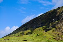 Rano Raraku Mountain. Easter Island Stock Photos