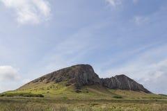 Rano Raraku stone quarry on Easter Island. In Chile Stock Photo