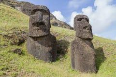 Rano Raraku stone quarry on Easter Island Stock Photo