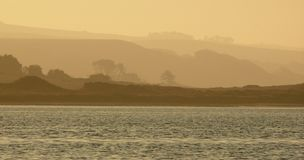 rano Reyes punkt mgła. Obrazy Stock