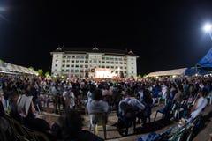 Ranong, Таиланд - 3-ье декабря 2013: Антипровительственный Стоковое Изображение