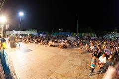Ranong, Таиланд - 3-ье декабря 2013: Антипровительственный Стоковые Изображения