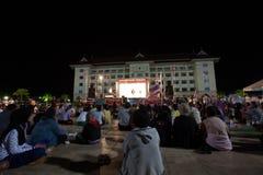 Ranong, Таиланд - 3-ье декабря 2013: Антипровительственный Стоковые Изображения RF