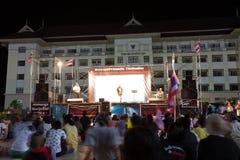 Ranong, Таиланд - 3-ье декабря 2013: Антипровительственный Стоковое Изображение RF
