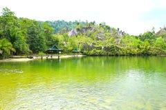 Ranong Canyon,Ranong, Thailand. Royalty Free Stock Photo
