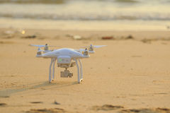 RANONG THAILAND - MARCH 20 : dji phantom 3 pro drone approaching Stock Images