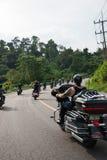 RANONG THAILAND - NOVEMBER 29 - 30: Deltagare i 30th Ranong Royaltyfri Fotografi