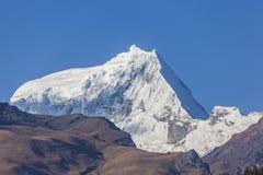 Ranrapalca peak. Peruvian Andes and Ranrapalca peak (6162 m), Peru Stock Image