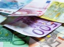 Ransom 2. Random bills (euros). European money Royalty Free Stock Photo