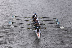 Ransom Crew races in the Head of Charles Regatta Women's Youth Eights Royalty Free Stock Photos