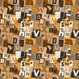 Ransom note kidnapper seamless pattern Royalty Free Stock Image