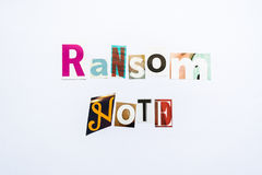 Ransom Note - note Stock Images