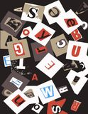 Ransom Word Collage Royalty Free Stock Images