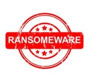 Ransomeware tecken Arkivbild