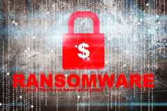 Ransomware alert. Cyber security concept and ideas background Stock Images