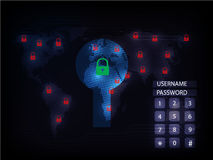 Ransomware alert, technology ,cyber secueity,cybercrime,world ma Royalty Free Stock Images
