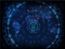 Ransomware alerta, tecnologia, secueity do cyber, cibercrime, mundo miliampère Fotos de Stock Royalty Free
