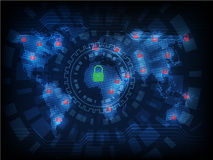 Ransomware alerta, tecnologia, secueity do cyber, cibercrime, mundo miliampère Foto de Stock Royalty Free