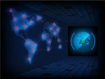 Ransomware alertent, technologie, secueity de cyber, cybercriminalité, le monde mA Photographie stock libre de droits