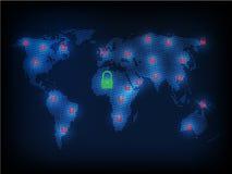 Ransomware alertent, technologie, secueity de cyber, cybercriminalité, le monde mA Image stock