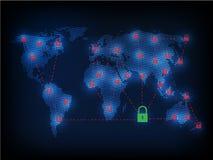Ransomware alertent, technologie, secueity de cyber, cybercriminalité, le monde mA Photo libre de droits