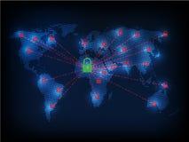 Ransomware alertent, technologie, secueity de cyber, cybercriminalité, le monde mA Photos stock