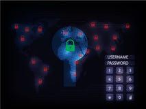 Ransomware alertent, technologie, secueity de cyber, cybercriminalité, le monde mA Images libres de droits