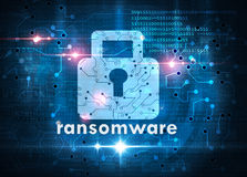 Ransomware attack cybersecurity concept Stock Images
