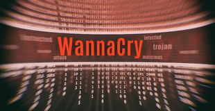 Ransomware attack WannaCry. Cyber attack Royalty Free Stock Photo