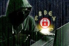 Ransomware begrepp arkivfoto