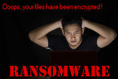 Ransomware Computer Virus Stock Images