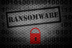 Ransomware hacker concept Stock Photography