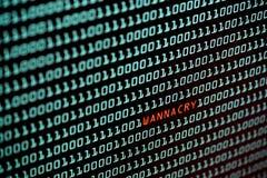 Ransomware lub Wannacry teksta pojęcie od des Obrazy Royalty Free